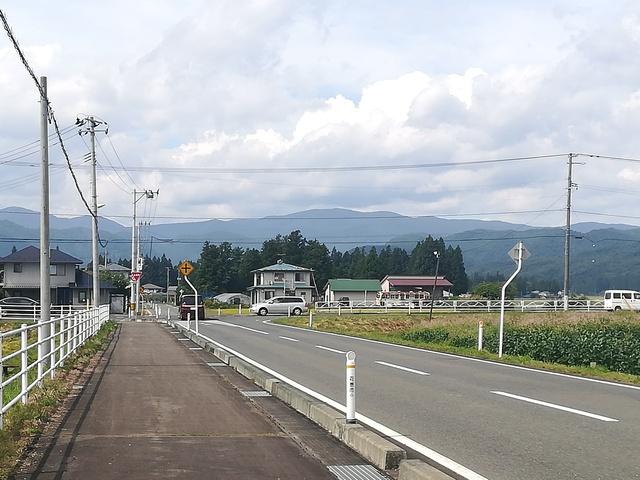 ゴール地点の十字路の画像