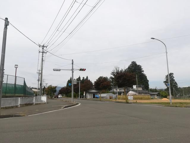 花巻南高校前の交差点付近の画像