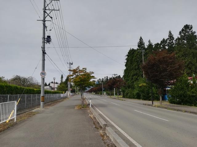 高円万寺浄水場へ続く道路の画像