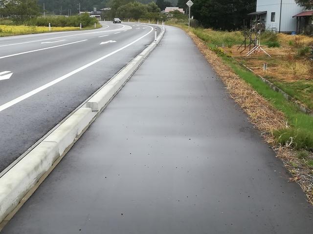 島バイパスの歩道の画像