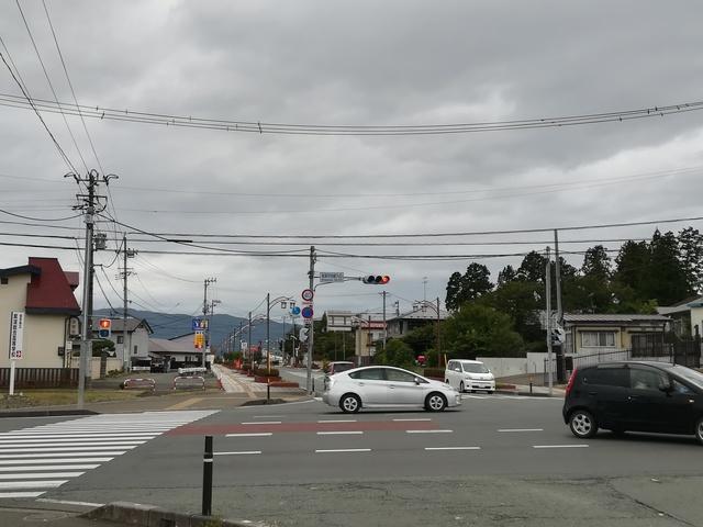 紫波中央駅前の交差点