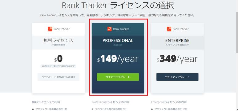 rank-trackerの価格
