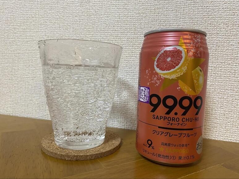 サッポロチューハイ99.99(フォーナイン)クリアグレープフルーツの画像