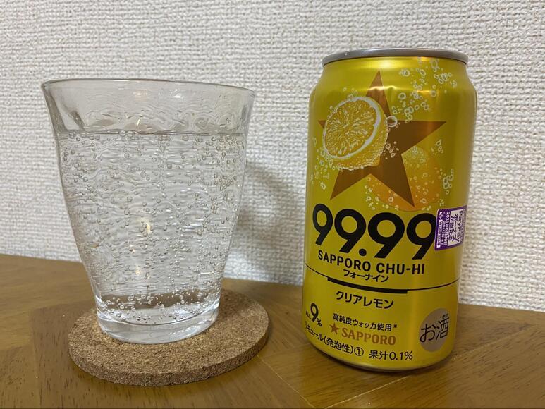 サッポロチューハイ99.99(フォーナイン)クリアレモンの画像